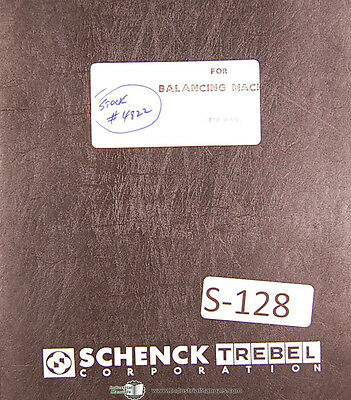 Schenck Aae 0003 Balancing Machine Users Instructions Manual