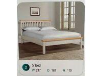 New: Kingsize Solid Oak Bed