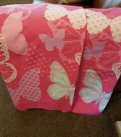 pink butterfly curtains