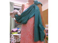 Cotton ring sling to carry from baby through to preschooler- used but good