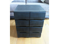 Vintage Ash Effect VHS Video Tape Drawers with 95 Used VHS Tapes
