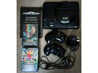 Original Sega Mega Drive Console with instruction manual and two games!!