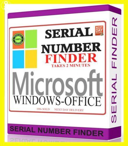 Serial Key Number Finder Windows 10/8.1/8/7 Vista