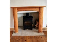 URGENT - BEAUTIFUL SOLID PINE FIRE SURROUND