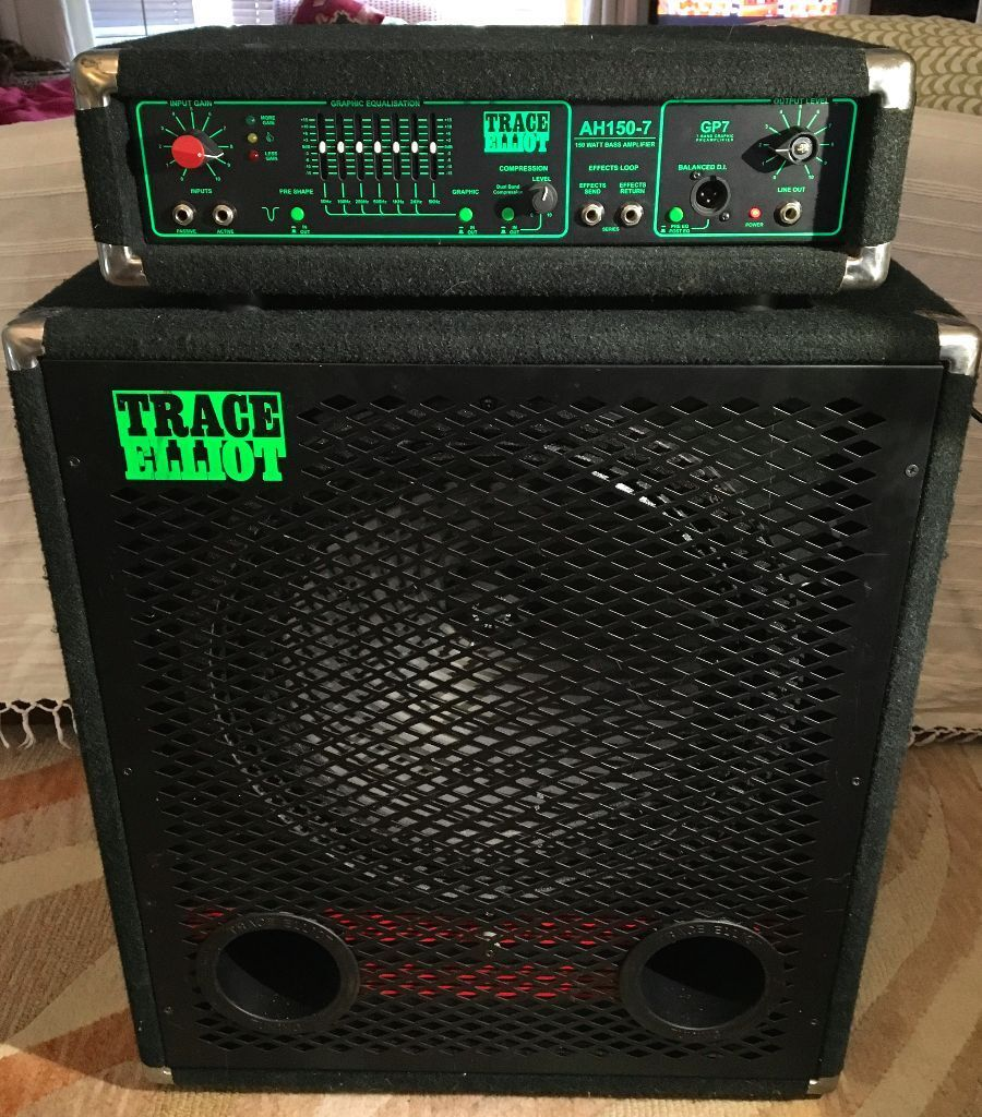 trace elliot bass amp ah150 7 and 1818 speaker cab in portslade east sussex gumtree. Black Bedroom Furniture Sets. Home Design Ideas