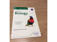How to Pass National 5 Biology, Geography, English & Maths books
