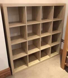 Birch colour IKEA KALLAX (4 x 4 squares) - Ikea's fantastic shelving, storage and display unit