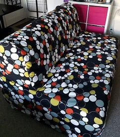 2 Seats Sofa Bed with mattress and cover