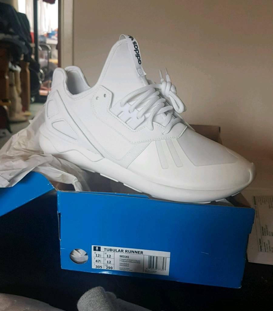 best website 92134 98fa1 Brand New Mens Adidas Originals Tubular Runners Full White Size 12UK RRP.  £89.99 | in Bangor, County Down | Gumtree