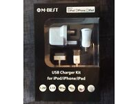 iPad / iPhone / iPod mains & car charger from maplins- NEW !