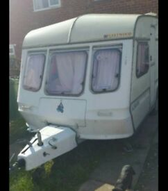 4 berth caravan. Spare repairs. Please read description.