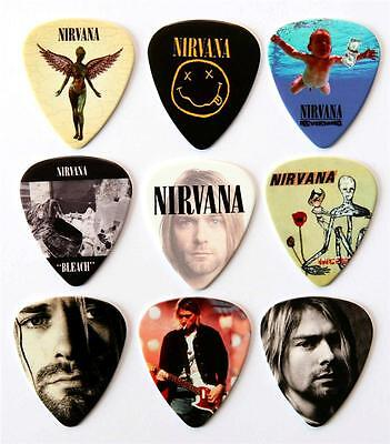 Nirvana Packet of 9 Premium Guitar Picks Plectrums