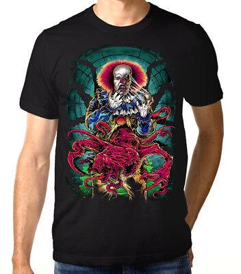 Pennywise Scarry Clown T-Shirt, Stephen King 'It' Men's Women's - Scarry Clown
