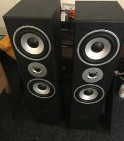 Skytronic SHFT60B Speaker tower stack (with free cables)