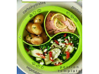 "Portion plate - Take the guesswork out of ""right sizing"" your meals - no weighing or measuring"