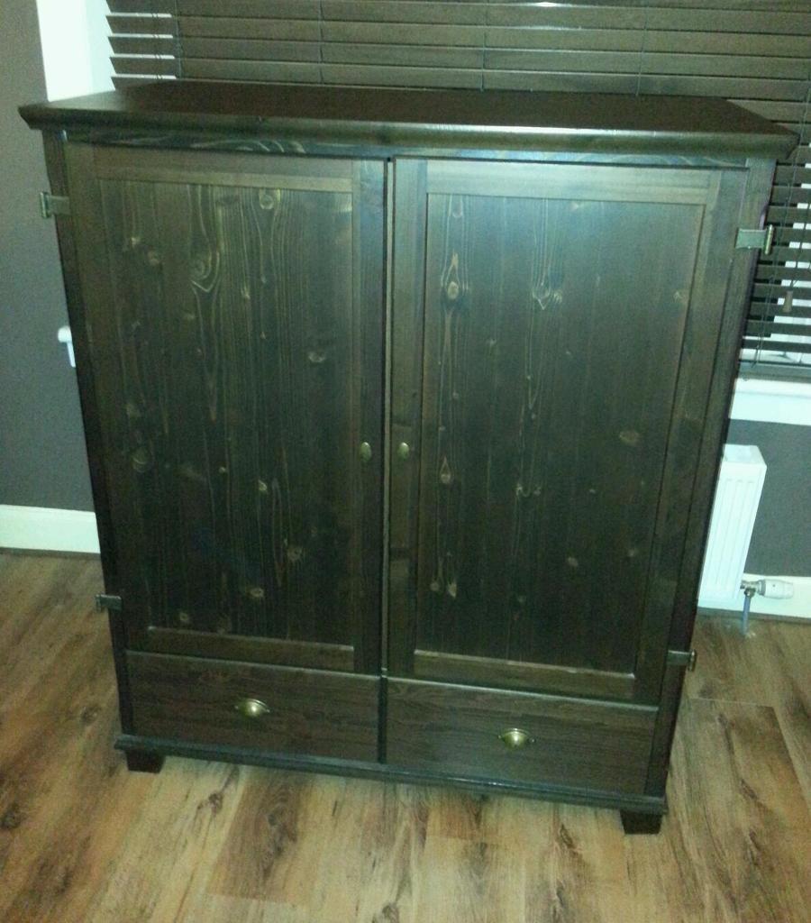 Ikea Markor Large Brown Tv Cabinet Cupboard Storage In Shotts  # Meuble Tv Ikea Markor