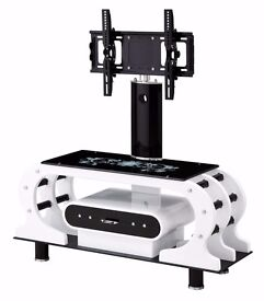 "UNIVERSAL TV STAND WITH BRACKET FOR 32"" - 62"" + GLASS"