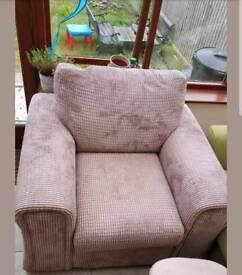 Stylish Brown Corduroy-Style Armchair