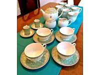 China Tea and Coffee set - Denby 'Monsoon Daisy' tea and coffee set - excellent condition