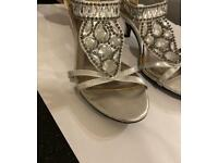 Silver ladies party shoes