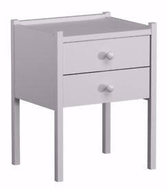PINE WOOD NIGHT STAND AP13/WH Large Drawers Table Pinewood Nightstand