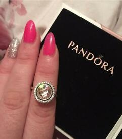 Pandora Statement sparkling pink ring