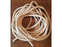 10m Sisal Decking Rope 20mm dia