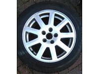 2 x 9-spoke alloy wheel 205/55r16 (from 2001 - 2007 mk3 Ford Mondeo Mk3)