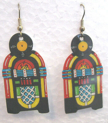 JUKEBOX EARRINGS Classic 1015 Wurlitzer Great for 50's Dances & Car Shows  NOS
