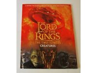 The Lord Of The Rings The Two Towers Creatures Book + Poster. Ex' Clean Condition.