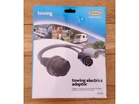 New Towing Tow Bar Caravan Motorhome Electrics Adaptor 13 Pin Plug To Connect To 12N & 12S Sockets