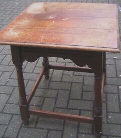 Antique Vintage Small/High/Hall Table. Square top 61 cm x 70 cm high