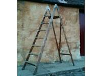 Vintage Antique Step Ladders Shelves Project