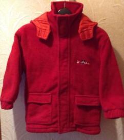 frostbite Red Fleece Hooded Jacket, Age 5-7