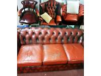 Red chesterfield complete set