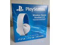 PS4 Wireless stereo headset 2.0 in white