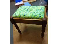 Reupholstered Piano stool