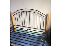 Simple Double bed with mattress
