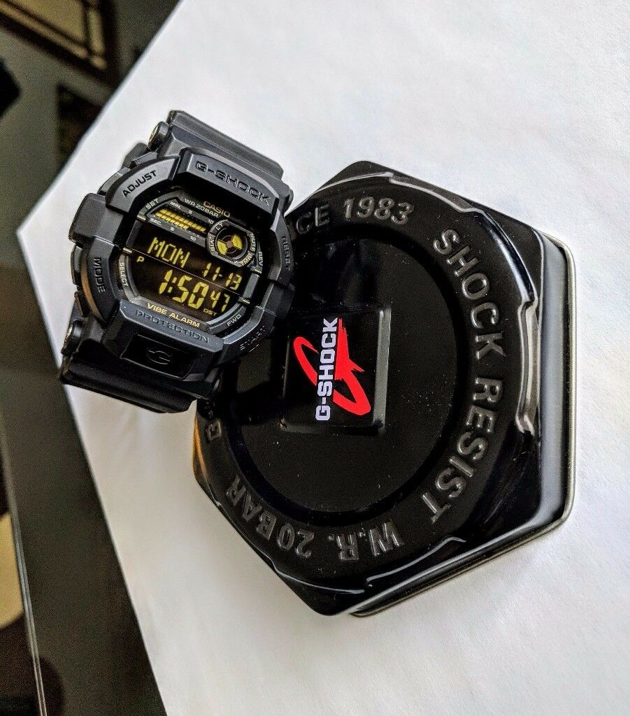 Casio Men's G-Shock ( GD-350-1BER ) Vibrating Timer Alarm Chronograph Watch