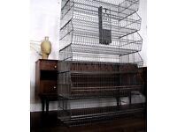 Metal Vintage Retro Industrial Shelf Storage Baskets Wire Rack Shop Fitting Kitchen