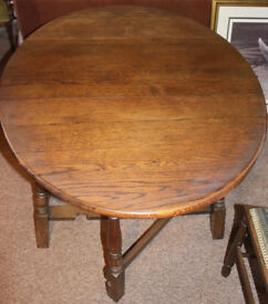Oak Oval Gate-leg table
