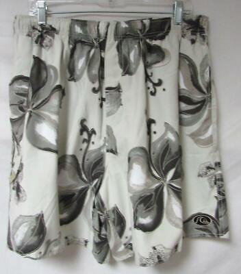 Quicksilver Mens Size Large Floral Print Board Shorts Swim Trunks A1 2154 - Floral Print Boardshorts