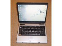 "Toshiba Equium A100 15"" Laptop - Dual Core 1.73GHz 4GB RAM 250GB Drive Windows 7"