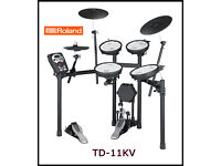 ROLAND TD-11KV all mesh drum kit & VEX pack. Including wireless dongle, pedal, stool, manual MEGA!