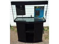 JUWEL VISION 180 FISH TANK IN BLACK AQUARIUM WITH STAND