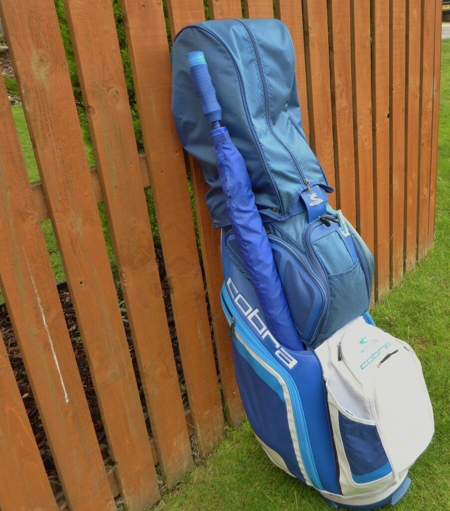 Cobra Golf BagCobra Ironsin Cumbernauld, GlasgowGumtree - Cobra Golf Bag 14 way divider,seperate putter space and umberella holder.7 pockets ,drinks pockets etc. Six Cobra Baffler XL irons 6 S/W,two years old good condition. Would sell seperately