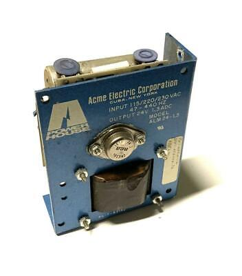 Acme Electric Corp. Alm24-1.3 Power Supply 24 Volts 1.3 Adc 2 Available