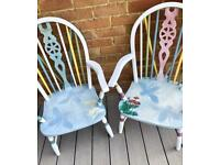 Children chairs /up cycled