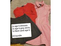 School uniform age 6 (girls)