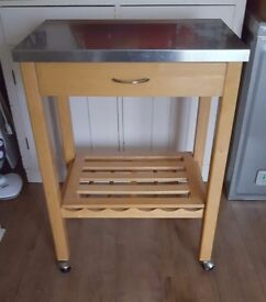 Stainless steel top kitchen trolley